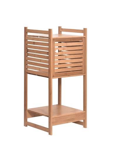 Regál prírodný bambus SELENE TYP 1