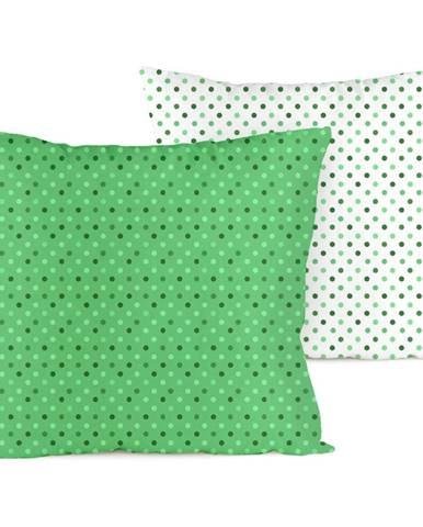 4home Obliečka na vankúšik Bodky zelená, 40 x 40 cm