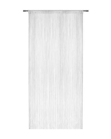 Nitkový Záves Franz, 90/245cm, Biela