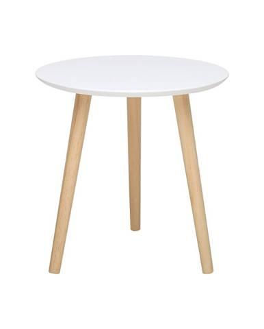 Odkladací stolík IMOLA 2 biely/borovica