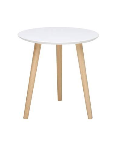 Odkladací stolík IMOLA 3 biely/borovica