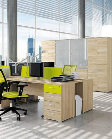 MLnábytok Kancelársky stôl OPTIMAL 15 / sonoma svetlá