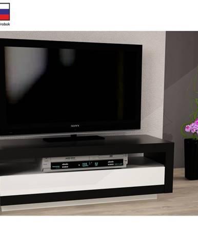 Tempo Kondela TV stolík AGNES čierna / biela