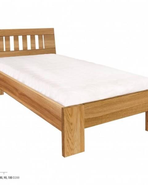 Drewmax Drewmax Jednolôžková posteľ - masív LK283   80 cm dub