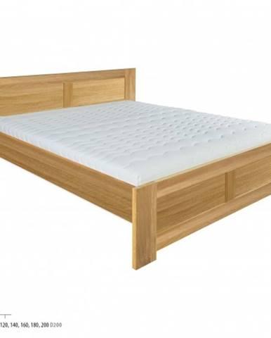Drewmax Jednolôžková posteľ masív LK212   120 cm dub