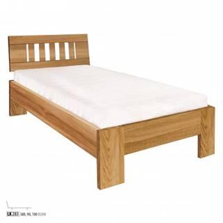 Drewmax Jednolôžková posteľ - masív LK283   80 cm dub