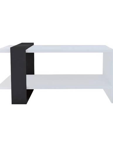 Konferenčný stolík FUNDA antracitová/biela