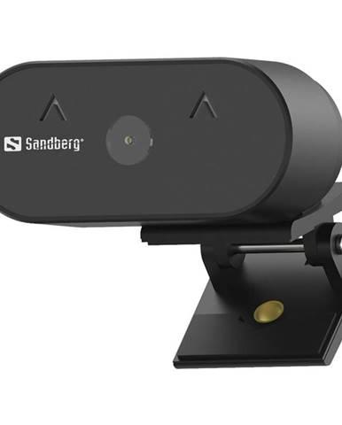 Webkamera Sandberg Webcam Wide Angle 1080p čierna
