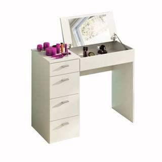 Toaletný stolík toaletka biela BELINA