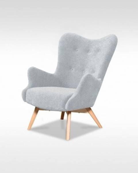 OKAY nábytok Moderné kreslo Glamour sivá