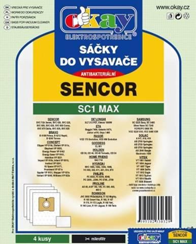 Vrecká do vysávača Sencor SC1 MAX, 8ks