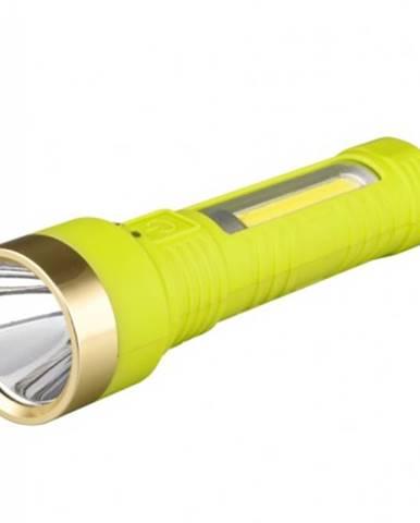Ručné svietidlo Peacock S3112, nabíjací, 1W LED + 3W LED COB