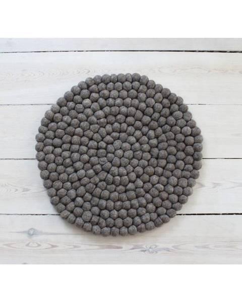 Wooldot Orechovohnedý guľôčkový vlnený vankúš na sedenie Wooldot Ball Chair Pad, ⌀ 39 cm