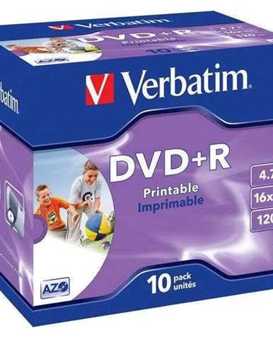 Disk Verbatim Printable DVD+R 4,7GB, 16x, jewel box, 10ks