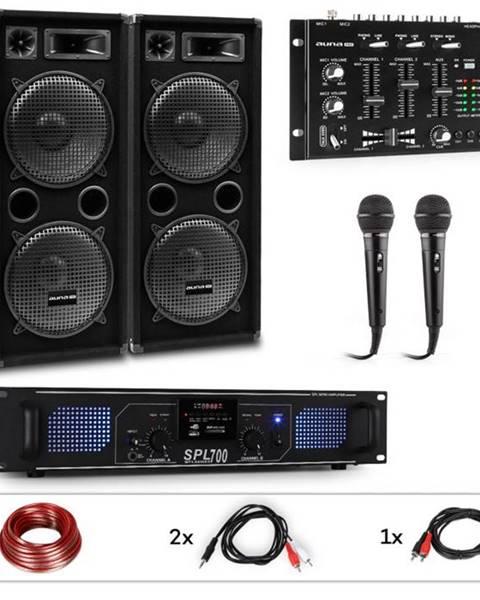 Auna Pro Auna Pro PW-2222 MKII, PA karaoke sada, zosilňovač, 2 pasívne PA reproduktory, mixér, 2 mikrofóny