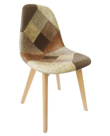 Jedálenská stolička patchwork/buk SALEVA