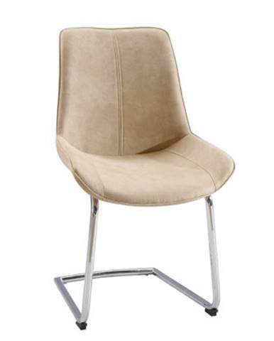 Stolička béžová látka/chróm NADINA poškodený tovar