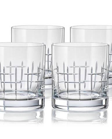 Crystalex CXBR079 4-dielna sada pohárov na whisky, 280 ml