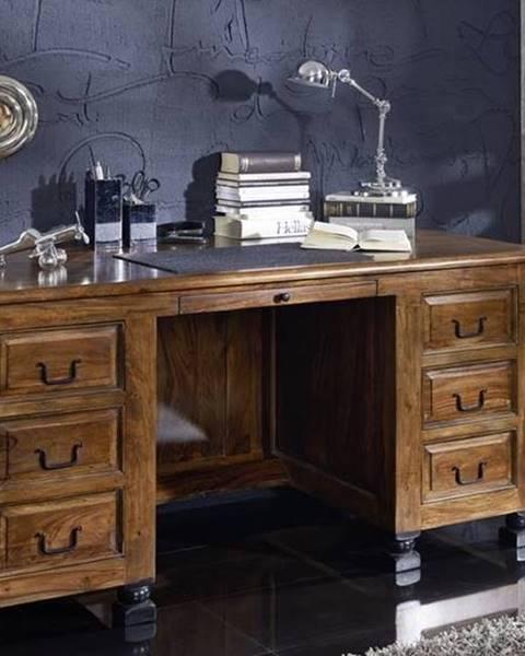Bighome.sk KOLONIAL Písací stôl so skrinkou 150x70 cm, palisander