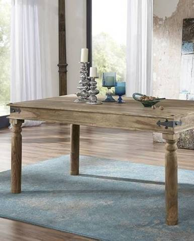 CASTLE Jedálenský stôl s okrúhlymi nohami 180x90 cm, palisander