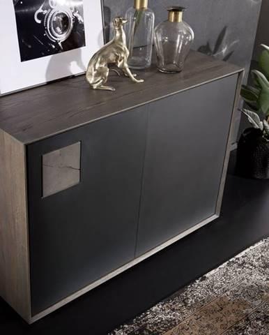 TAMPERE Komoda I. 78x110 cm, dub, dymová