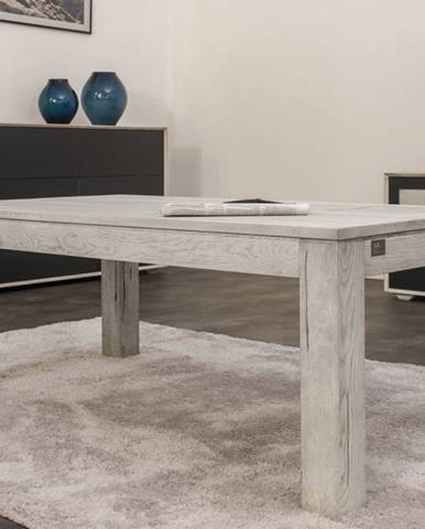 TAMPERE Konferenčný stolík 90x90 cm, dub, svetlosivá