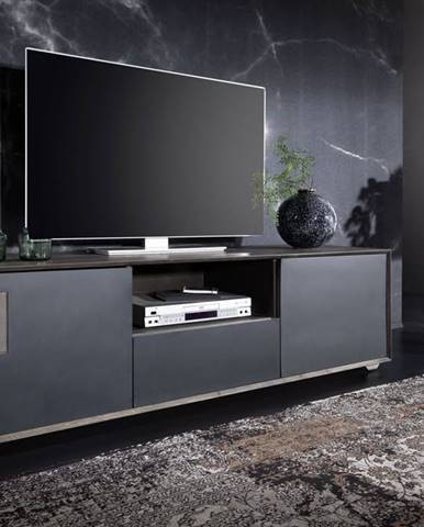 TAMPERE TV stolík 50x180 cm, dub, dymová