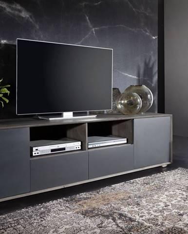 TAMPERE TV stolík 50x210 cm, dub, dymová