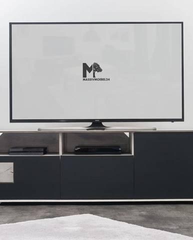TAMPERE TV stolík 60x180 cm, dub, svetlosivá