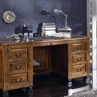 KOLONIAL Písací stôl so skrinkou 150x70 cm, palisander
