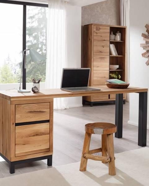 Bighome.sk TIROL Písací stôl 150x55 cm, prírodná, dub