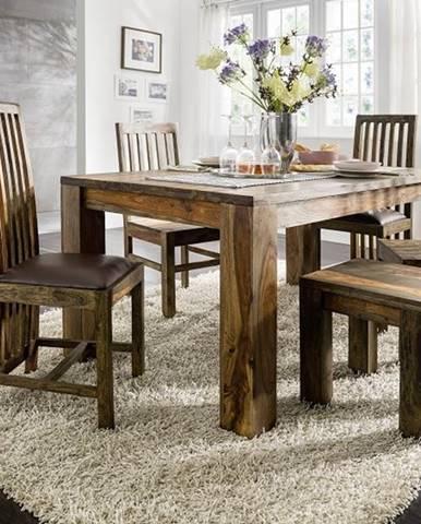 PLAIN SHEESHAM Jedálenský stôl 260x100 cm, palisander