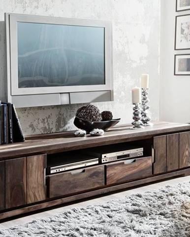 PLAIN SHEESHAM TV stolík so skrinkami205x45 cm, palisander