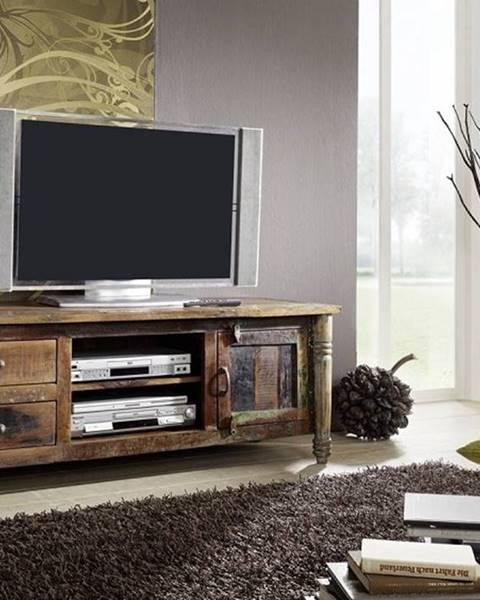 Bighome.sk COLORES TV stolík 145x55 cm, staré drevo