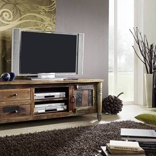 COLORES TV stolík 145x55 cm, staré drevo