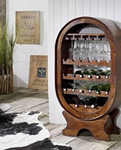 CAMBRIDGE Regál na víno 120x67 cm, akácia