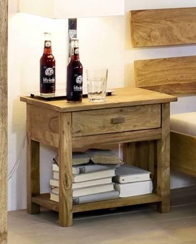 LIGHT WOOD Nočný stolík 50x35 cm, palisander