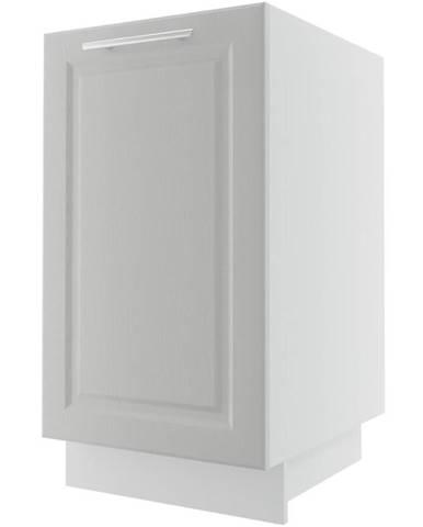 Kuchynská skrinka Emporium D1D/45 light grey stone/biela