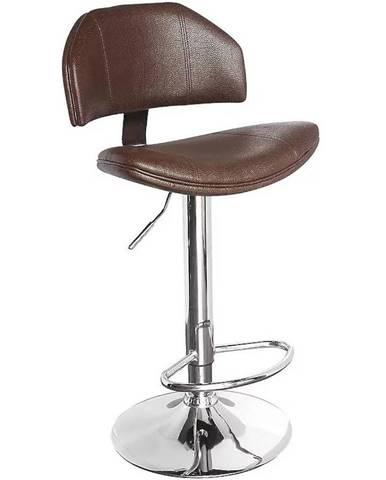 Barová stolička Kwazar hnedá 7373