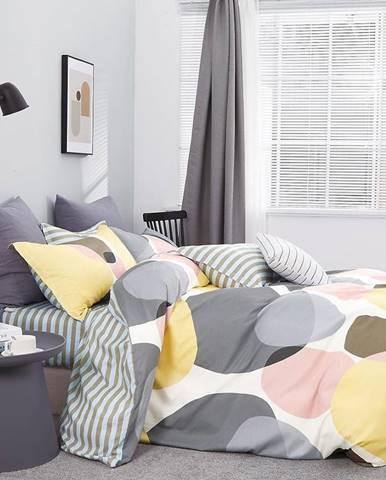Bavlnená saténová posteľná bielizeň ALBS-01177B/3 160x200