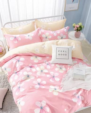 Bavlnená saténová posteľná bielizeň albs-0913b/2 140x200 lasher