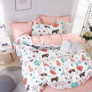 Bavlnená saténová posteľná bielizeň albs-01025b/2 140x200 lasher