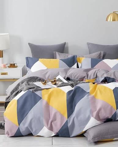 Bavlnená saténová posteľná bielizeň ALBS-01224B 200X220