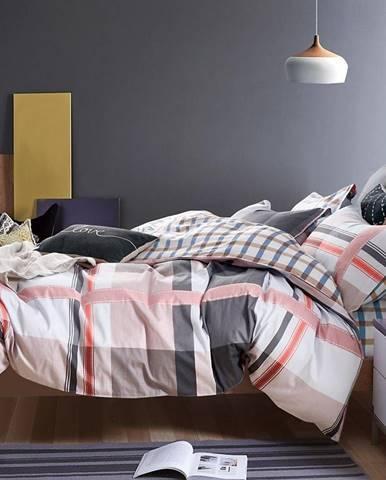Bavlnená saténová posteľná bielizeň albs-0917b/2 140x200 lasher