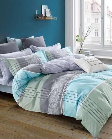 Bavlnená saténová posteľná bielizeň albs-0924b/2 140x200 lasher