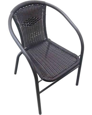 Ratanová stolička čierna
