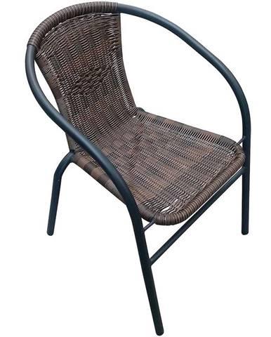 Záhradná ratanová stolička hnedá