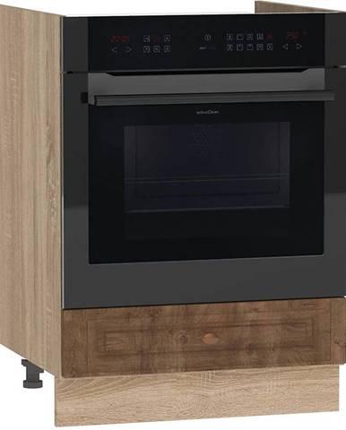 Skrinka do kuchyne Dagna dub taiga tmavý/DS DK60