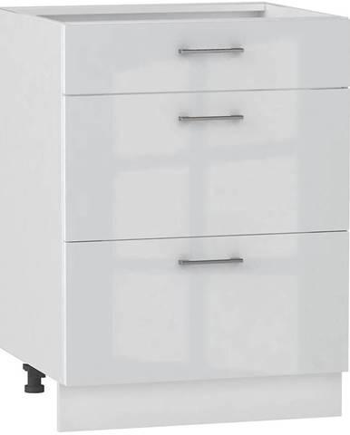 Skrinka do kuchyne Alvico D60 S/3 luxe blanco BB