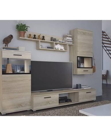 Break obývacia stena dub sonoma